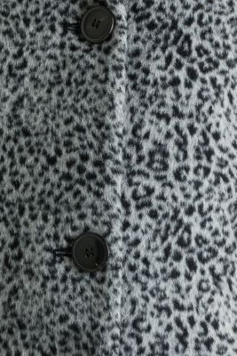 With wool: Fur coat with an animal print