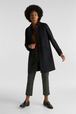 Wool blend coat, BLACK, detail