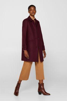 Wool blend coat, BORDEAUX RED, detail