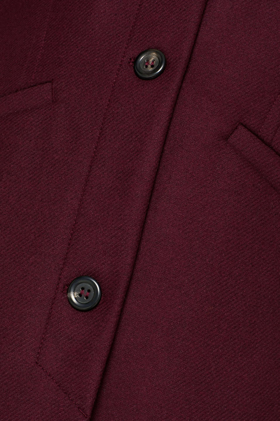 Wool blend coat, BORDEAUX RED, detail image number 4