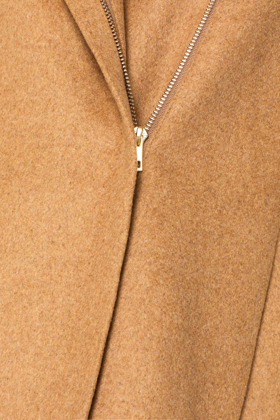 With wool: Coat with tie-around belt, CAMEL, detail image number 4