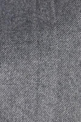With wool: Coat with tie-around belt, GUNMETAL 5, detail