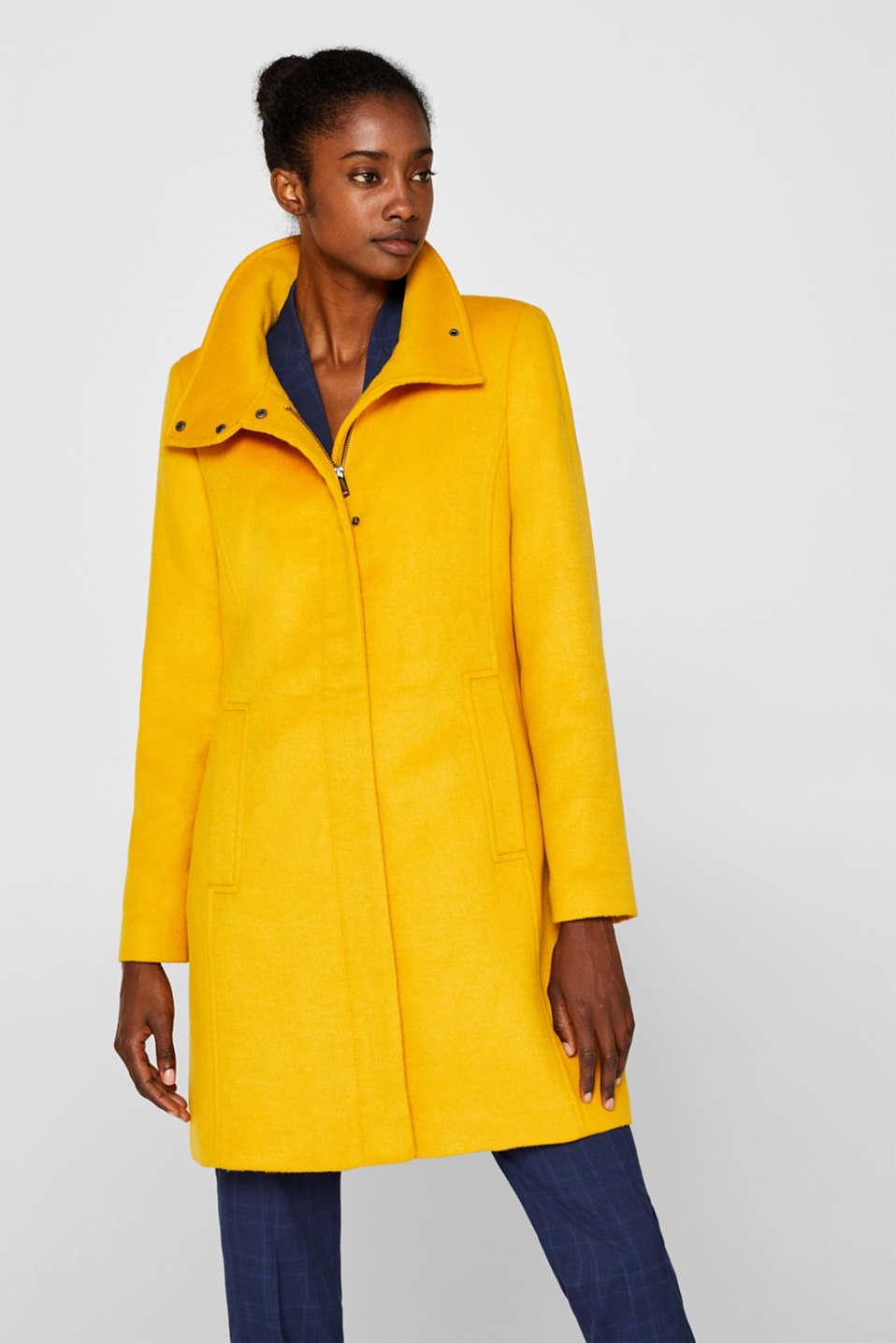 Esprit Collection Mit Wolle: taillierter Stehkragen Mantel online kaufen | OTTO