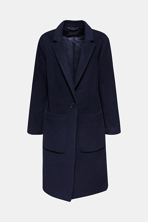Blazer coat with cashmere
