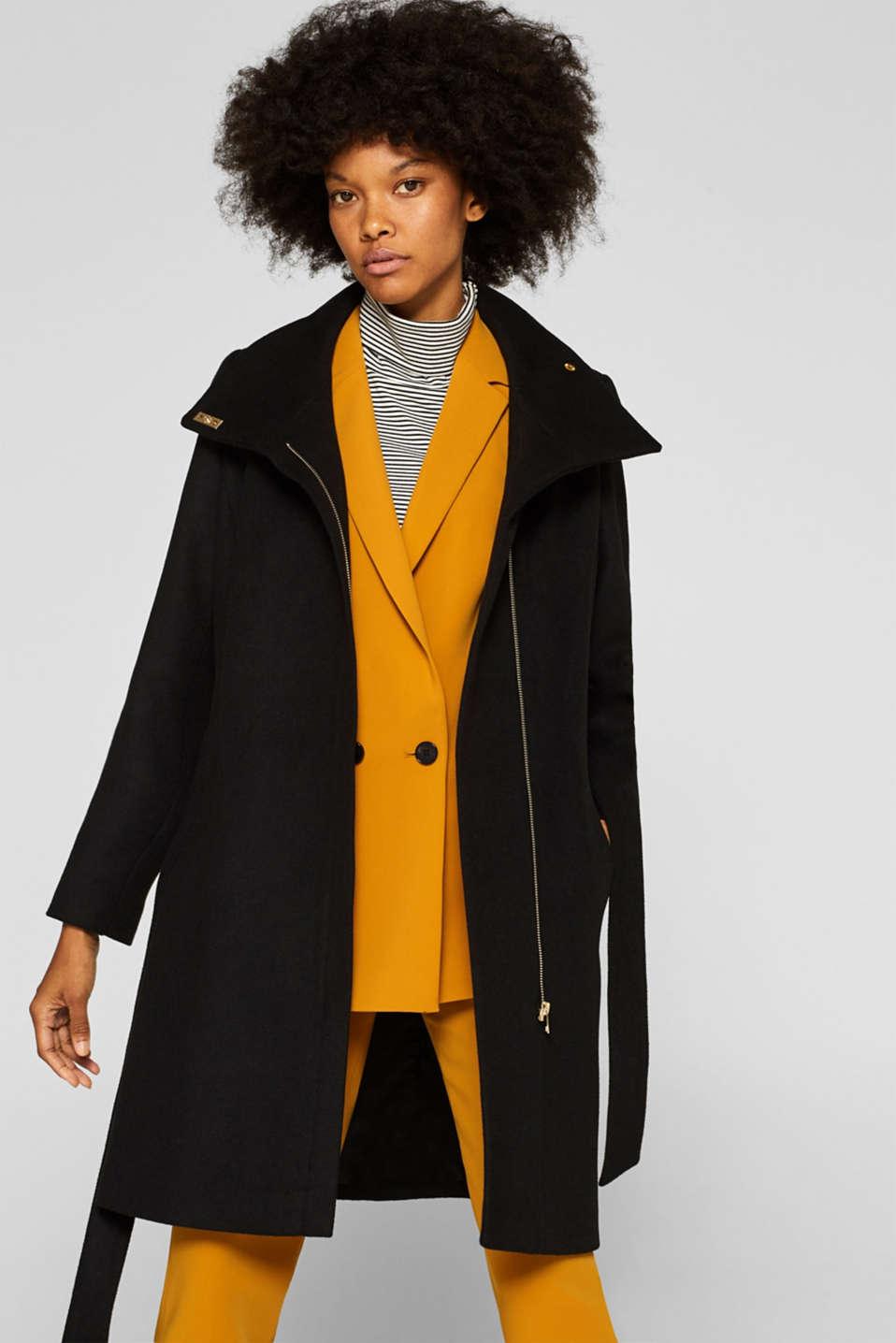 Esprit : Cappotto di cotone con colletto alto nel nostro