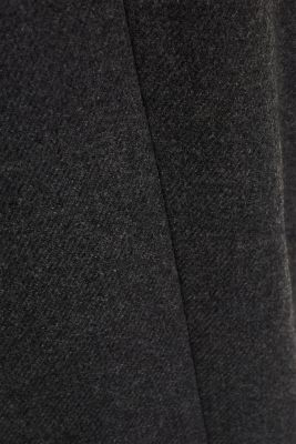 With wool: Coat made of exquisite yarn, DARK GREY, detail
