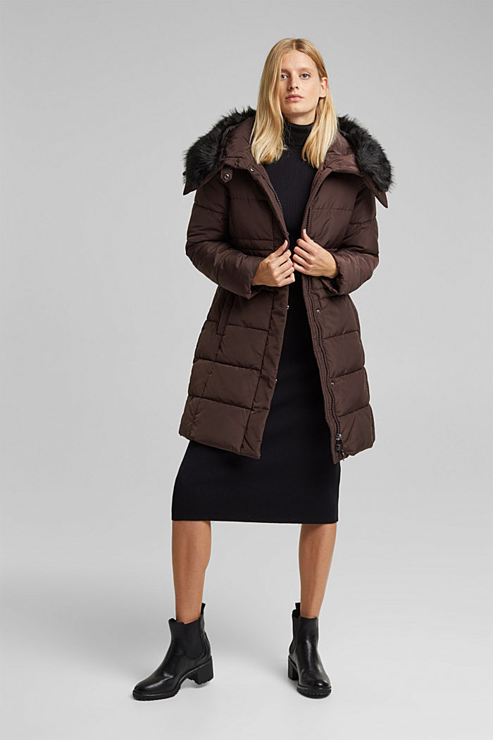 Quilted coat with 3M®Thinsulate filling, BROWN, detail image number 1