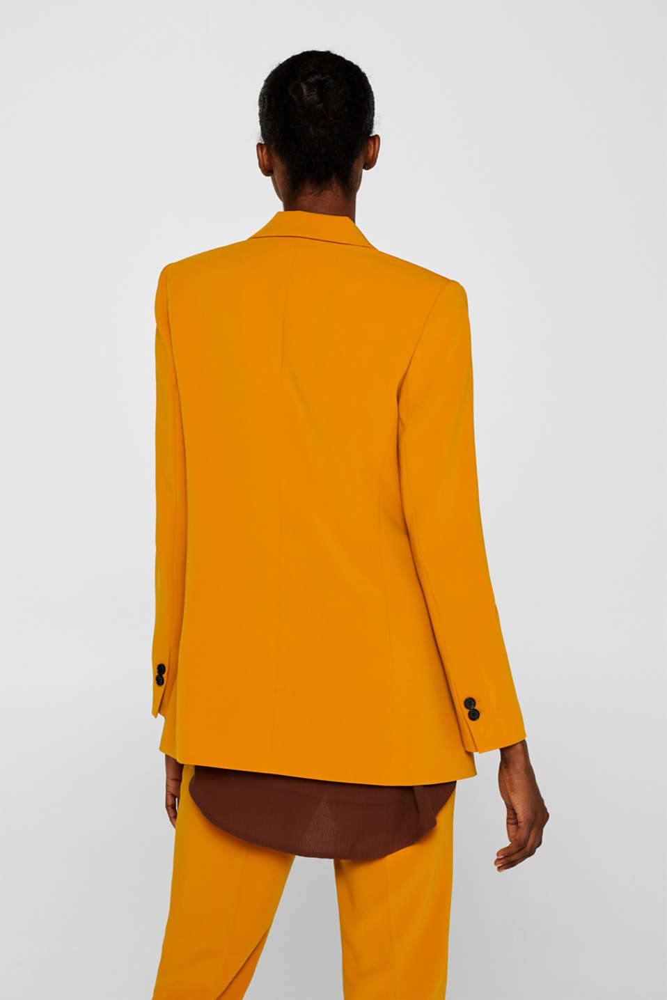 TAILORING mix + match stretch blazer, AMBER YELLOW, detail image number 3