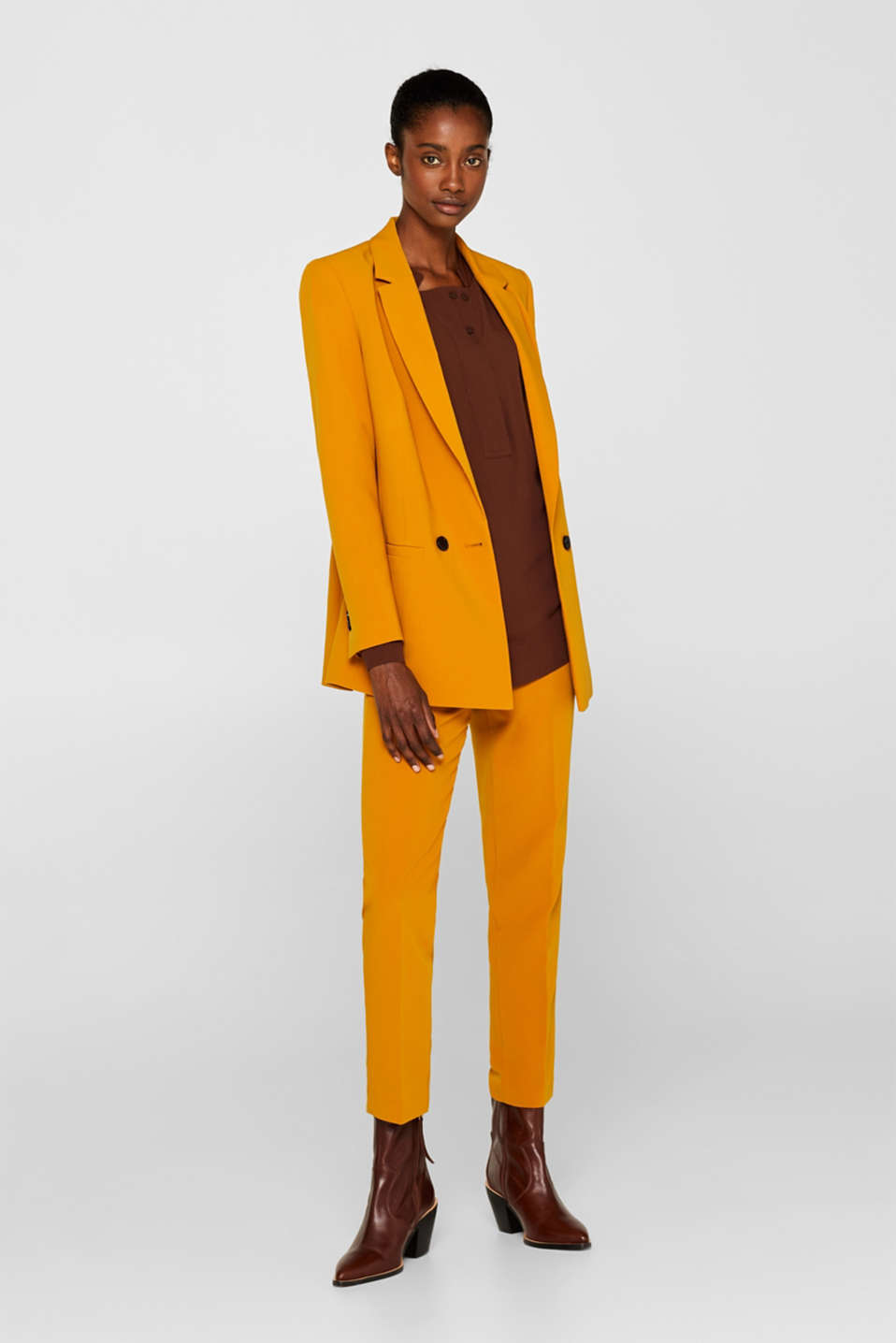 TAILORING mix + match stretch blazer, AMBER YELLOW, detail image number 1
