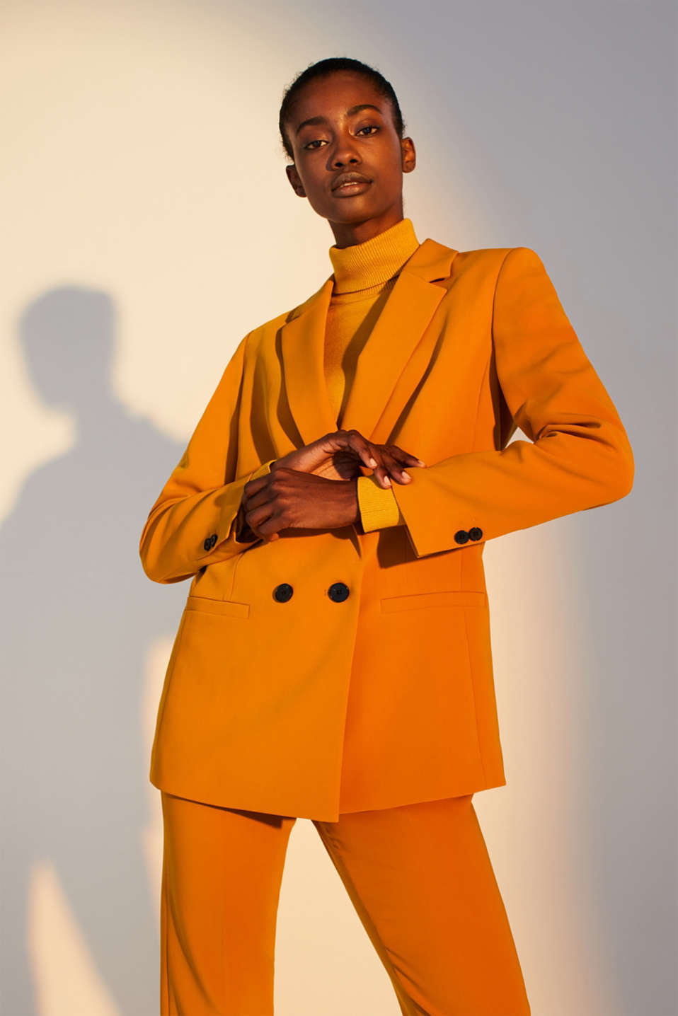 TAILORING mix + match stretch blazer, AMBER YELLOW, detail image number 6