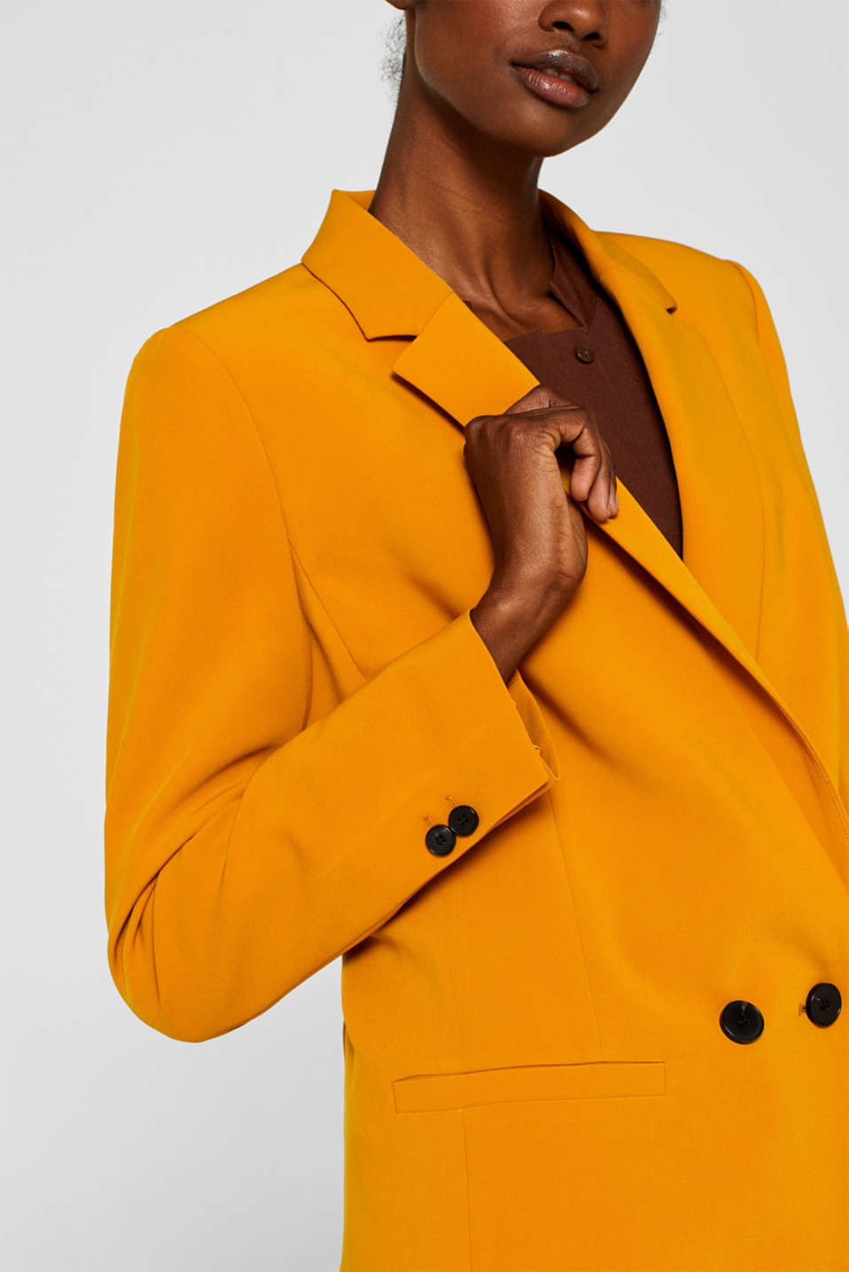 TAILORING mix + match stretch blazer, AMBER YELLOW, detail image number 2