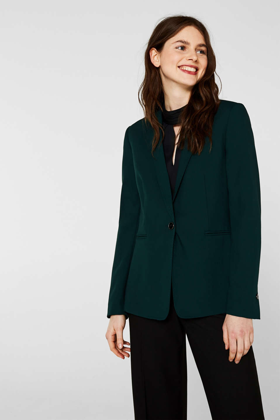 Esprit - STITCHING Mix + Match Stretch-Blazer