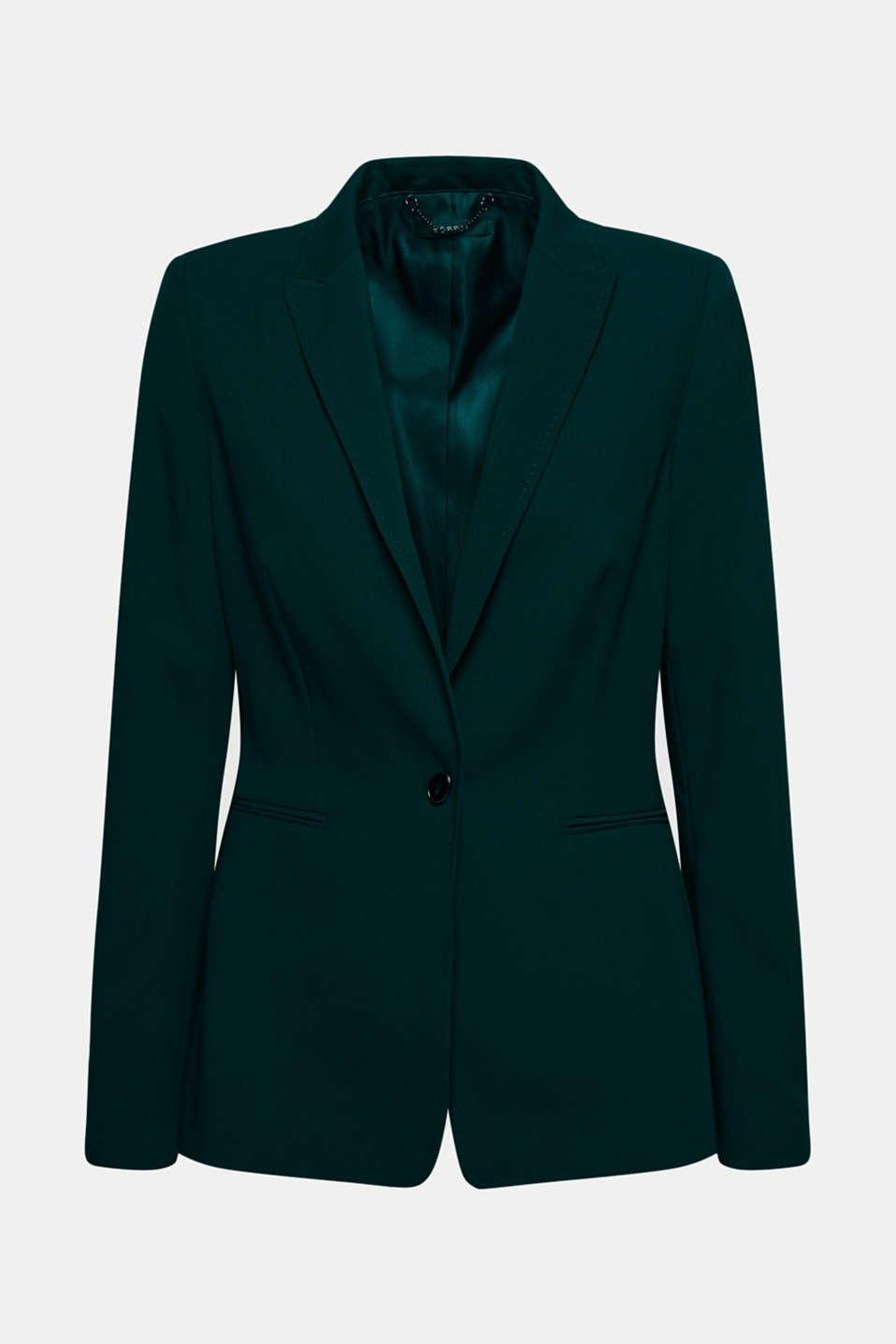 STITCHING mix + match stretch blazer, DARK TEAL GREEN 2, detail image number 5