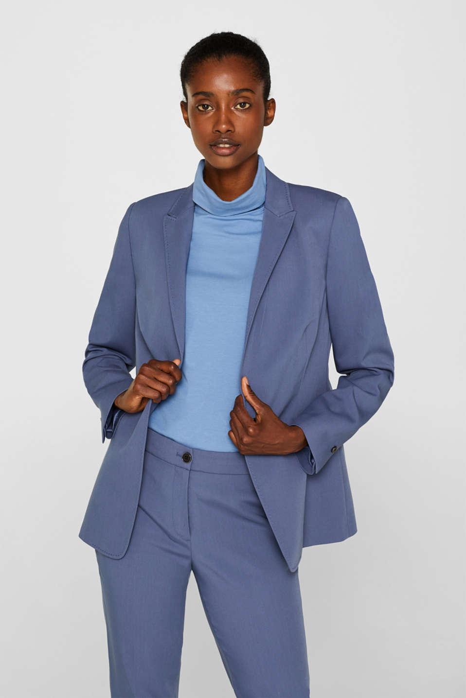 STITCHING mix + match stretch blazer, GREY BLUE 2, detail image number 0