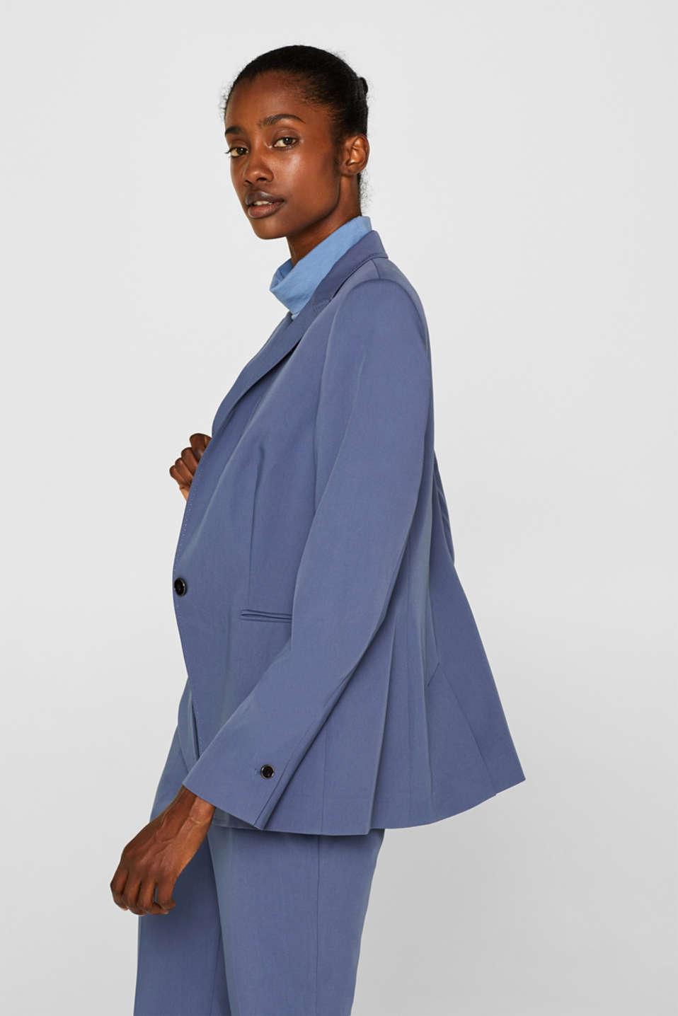 STITCHING mix + match stretch blazer, GREY BLUE 2, detail image number 5