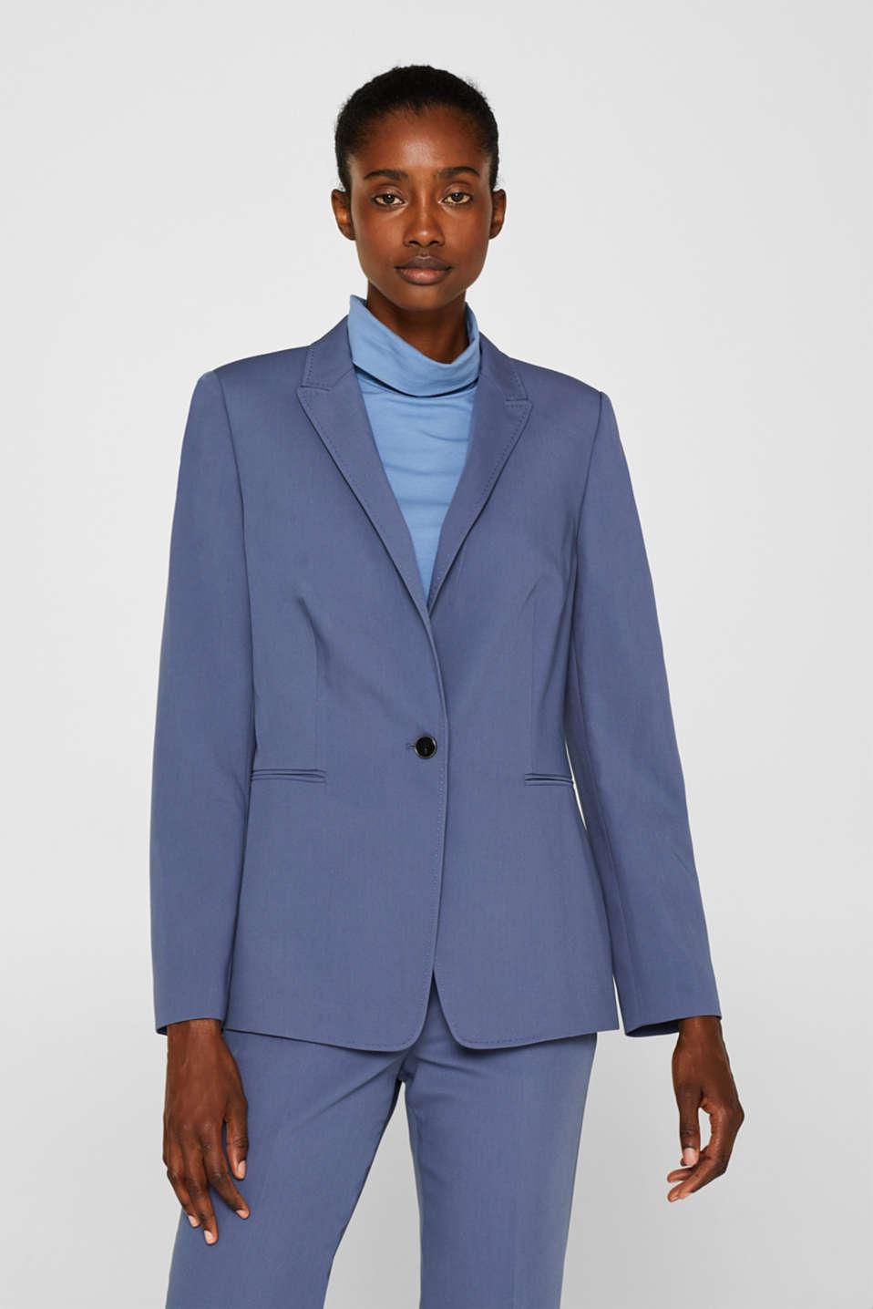 STITCHING mix + match stretch blazer, GREY BLUE 2, detail image number 6