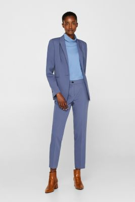 STITCHING mix + match stretch blazer, GREY BLUE 2, detail