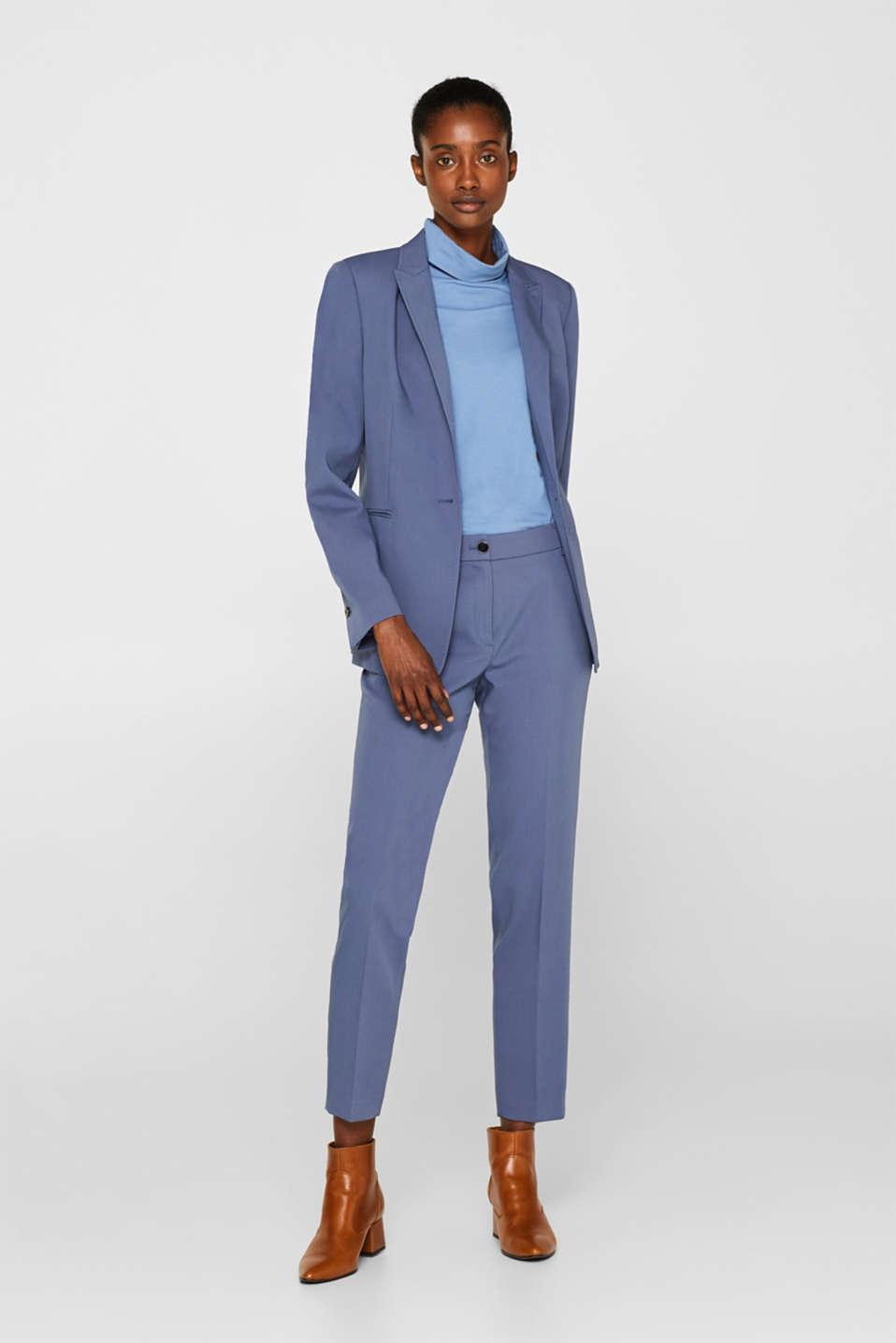 STITCHING mix + match stretch blazer, GREY BLUE 2, detail image number 1