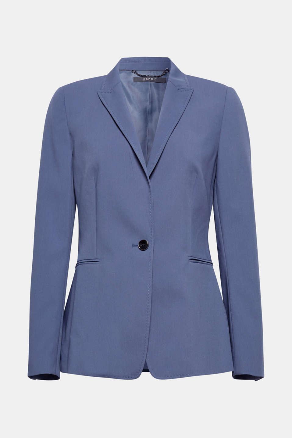 STITCHING mix + match stretch blazer, GREY BLUE 2, detail image number 8