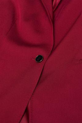 STITCHING mix + match stretch blazer, GARNET RED, detail