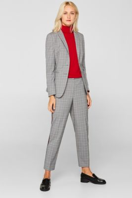 GLENCHECK mix + match stretch blazer, MEDIUM GREY, detail