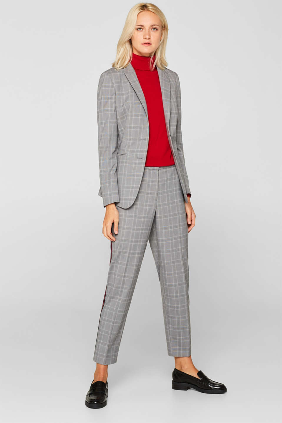 GLENCHECK mix + match stretch blazer, MEDIUM GREY, detail image number 1