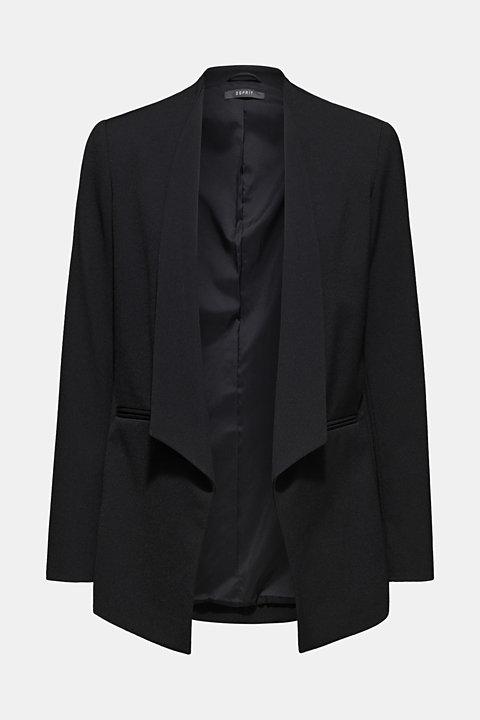 Stretch blazer with a new dinner jacket collar