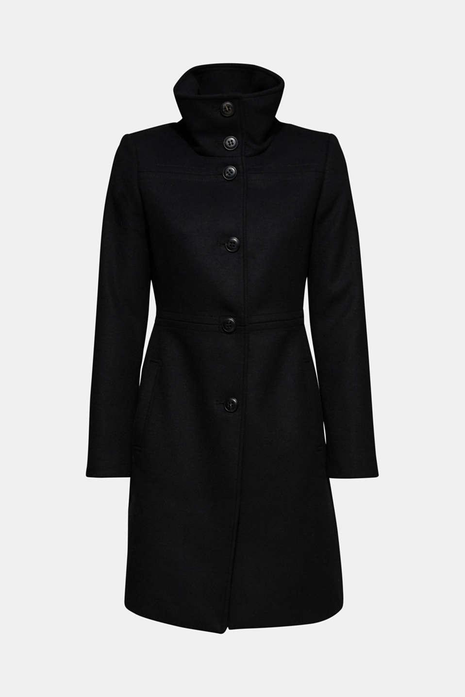 Coats woven, BLACK, detail image number 6