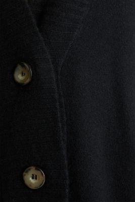 100% cashmere: long cardigan, BLACK, detail