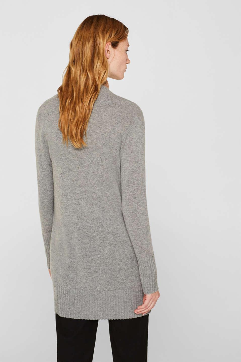 100% cashmere: long cardigan, MEDIUM GREY 5, detail image number 3