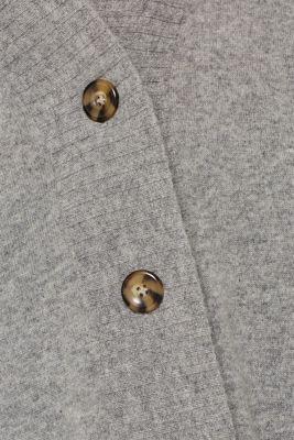 100% cashmere: long cardigan, MEDIUM GREY 5, detail