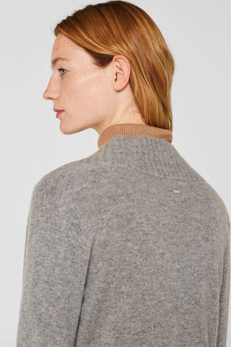 100% cashmere: long cardigan, MEDIUM GREY 5, detail image number 6
