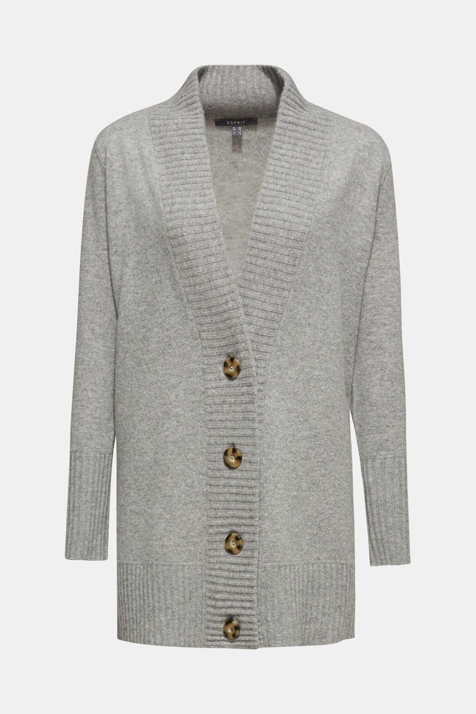 100% cashmere: long cardigan, MEDIUM GREY 5, detail image number 9