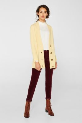 100% cashmere: long cardigan, LIGHT YELLOW 5, detail