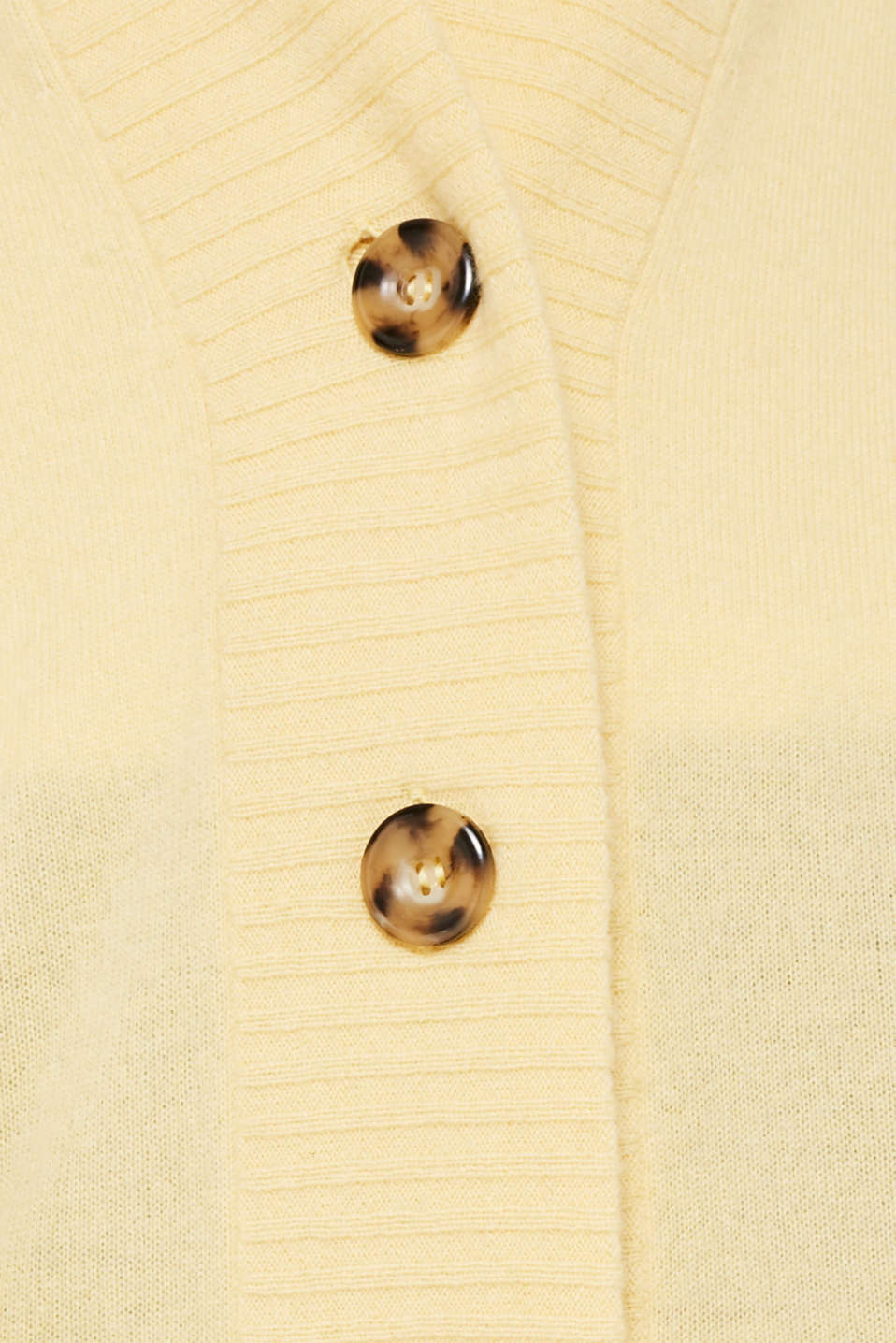 100% cashmere: long cardigan, LIGHT YELLOW 5, detail image number 4