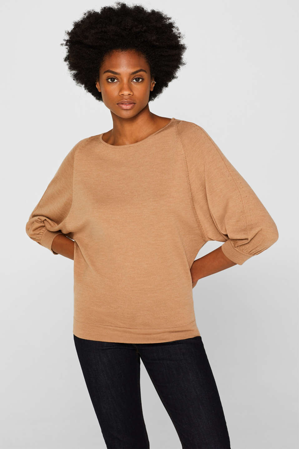 Sweaters, CARAMEL 5, detail image number 0