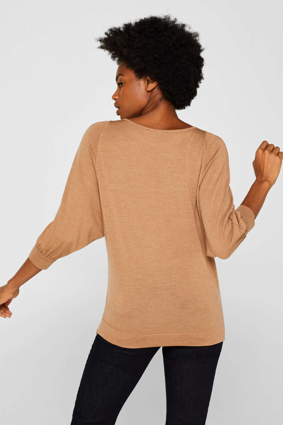 Sweaters, CARAMEL 5, detail image number 3