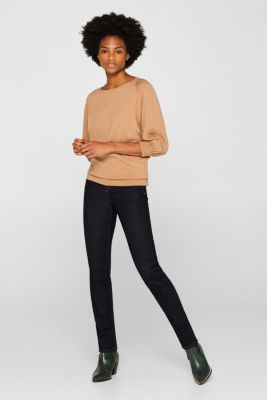 Made of blended wool: Jumper with batwing sleeves, CARAMEL 5, detail