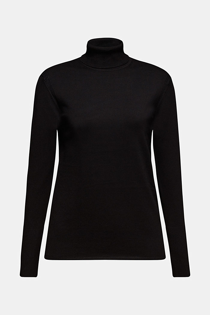 Jumper containing LENZING™ ECOVERO™, BLACK, detail image number 6