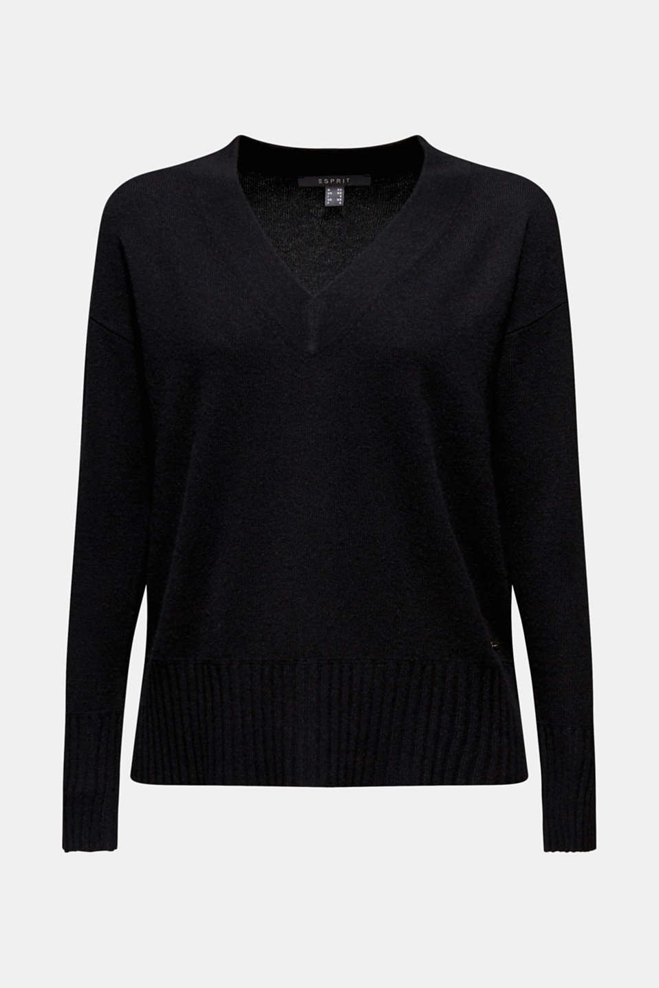Sweaters, BLACK, detail image number 7