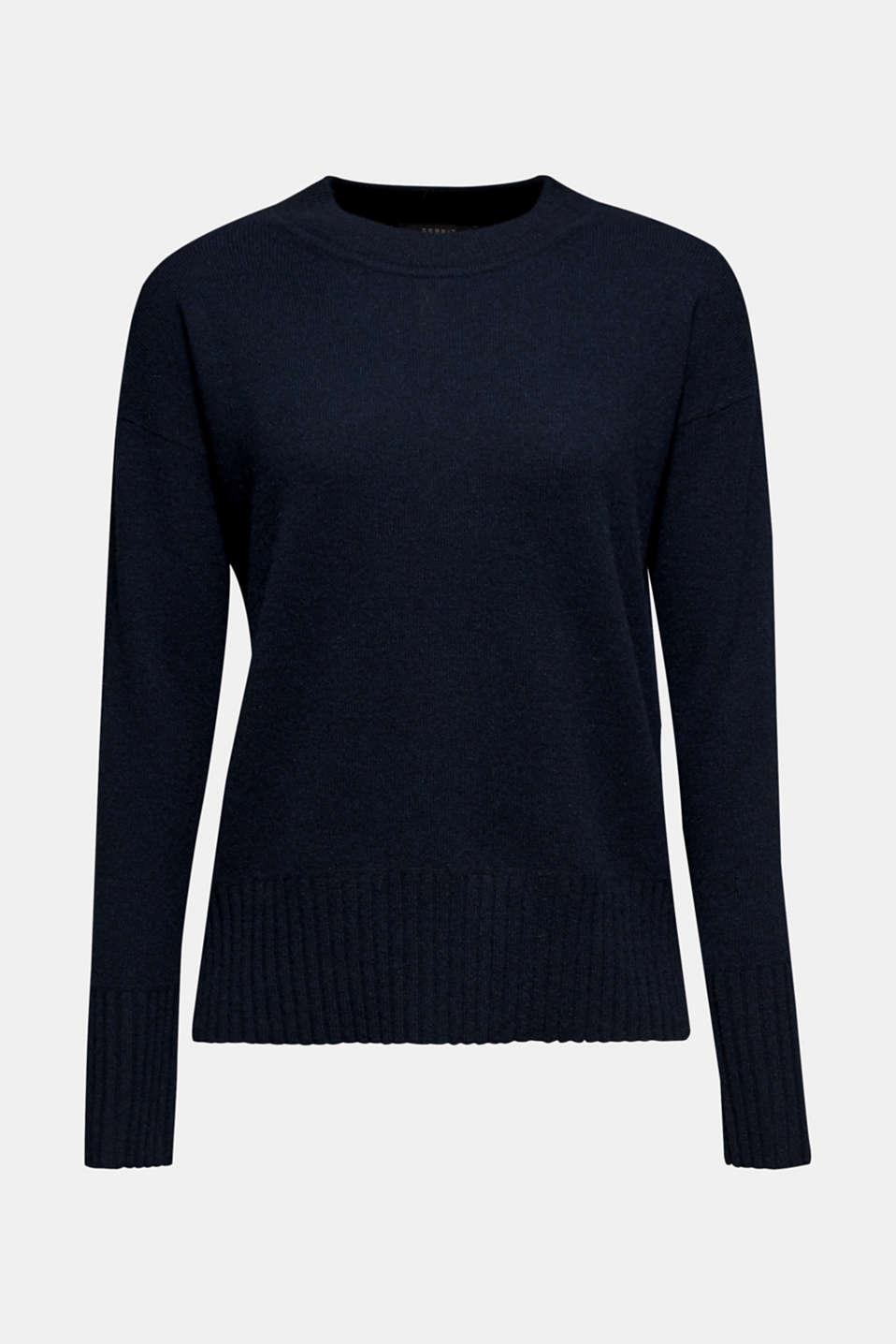 100% cashmere: round neck jumper