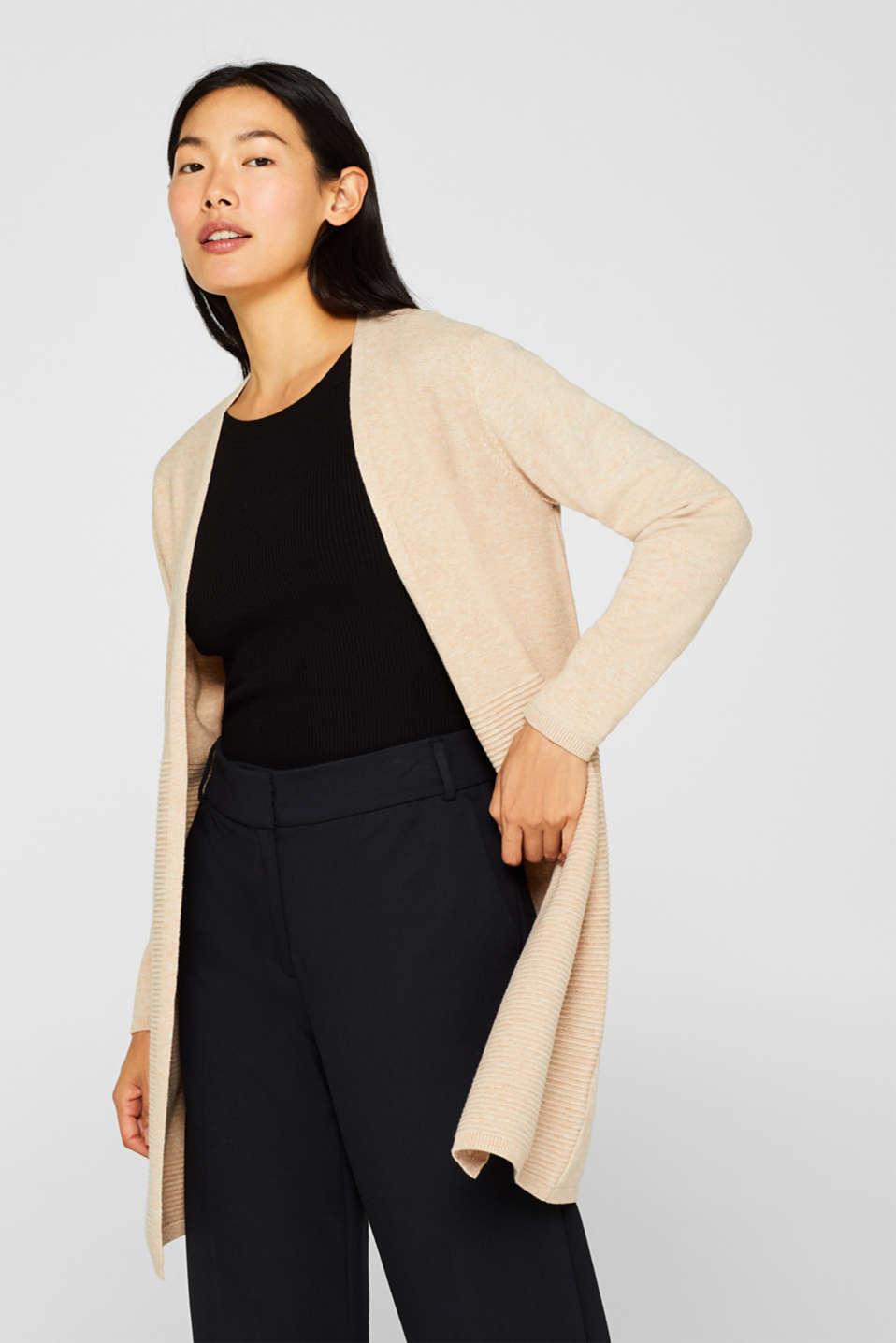 Sweaters cardigan, BEIGE 5, detail image number 0
