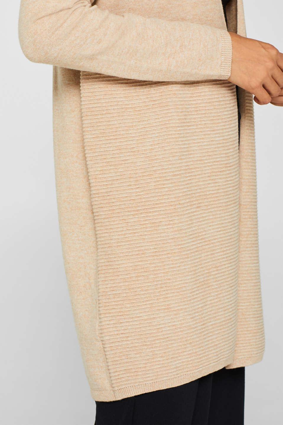 Sweaters cardigan, BEIGE 5, detail image number 2
