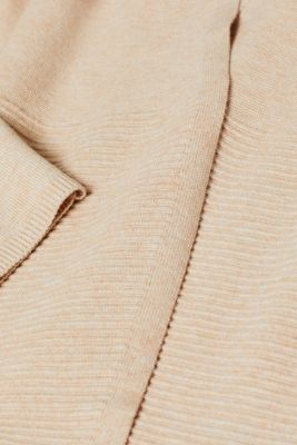 With wool: Cardigan in a long design