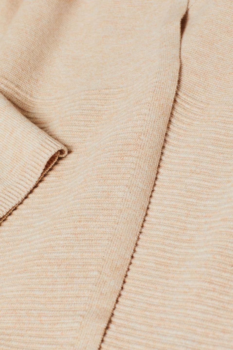 Sweaters cardigan, BEIGE 5, detail image number 4