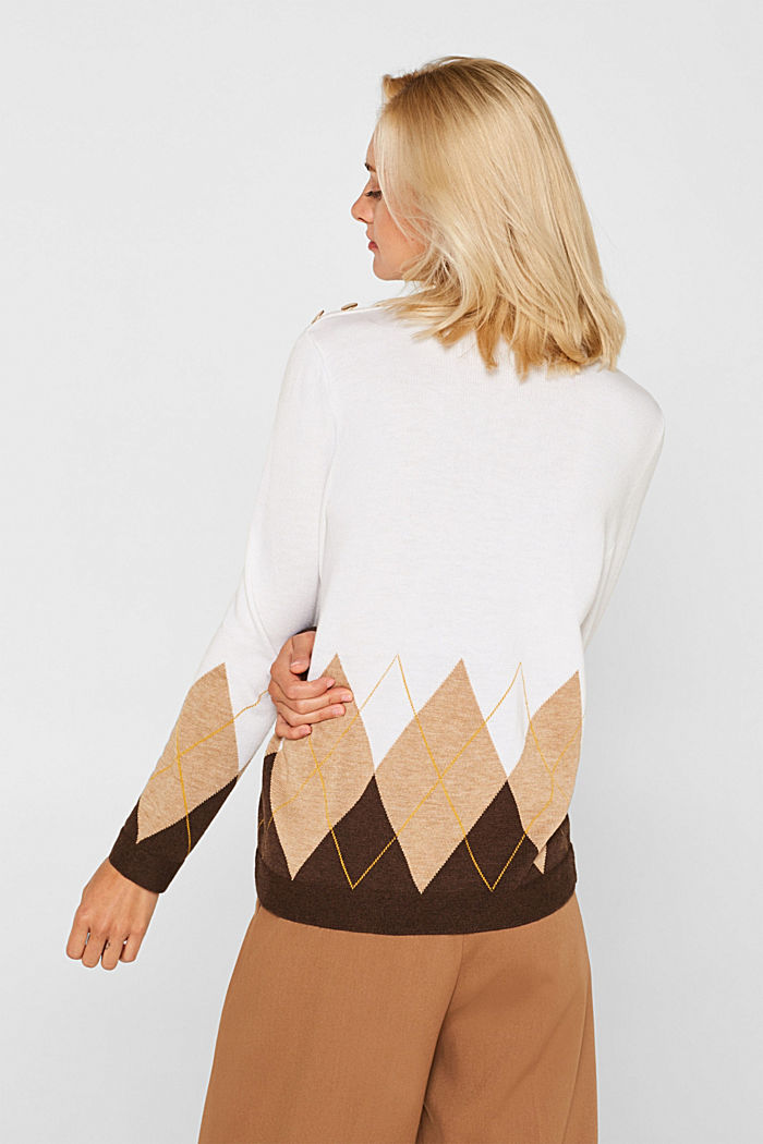 Turtleneck jumper with wool, OFF WHITE, detail image number 3