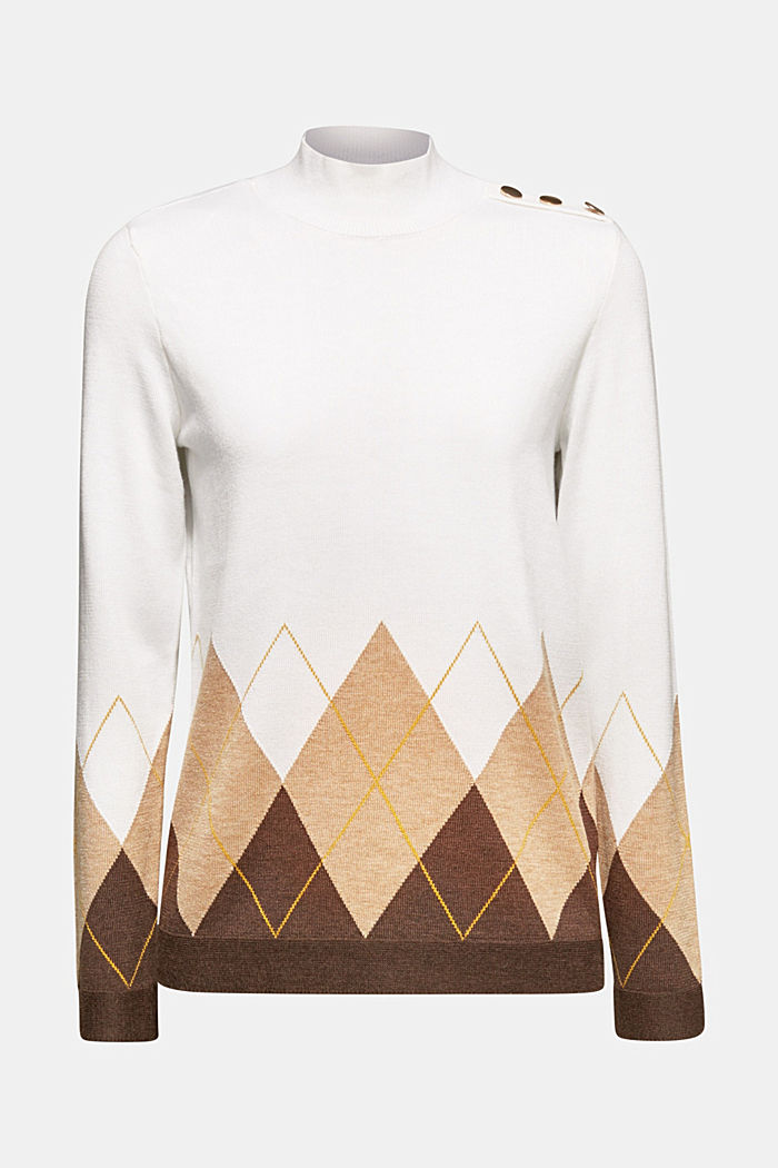 Turtleneck jumper with wool, OFF WHITE, detail image number 5