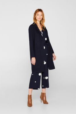 Culotte jumpsuit with XXL polka dots, NAVY, detail