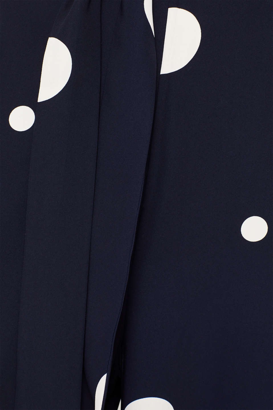 Culotte jumpsuit with XXL polka dots, NAVY, detail image number 4