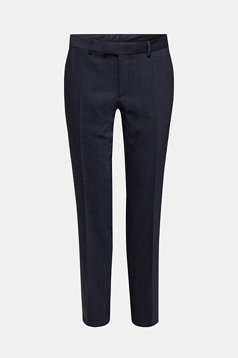 GRID Mix+Match: blended wool suit trousers